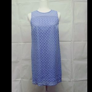 Loft Periwinkle blue sheath sleeveless dress